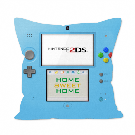 Blue 2DS Console Design Gamers 12 Inch Sofa Cushion